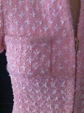 Red Carpet Stunning CHANEL Pink sequins Lesage tweed Jacket