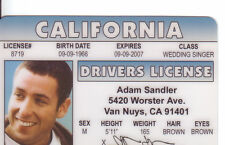 ADam Sandler - Happy Gilmore star   -  ID card Drivers License