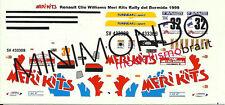 DECALS RENAULT CLIO WILLIAMS RALLY DEL BORMIDA 1999 RIVA 1/43 MERI KITS MS053