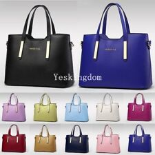 Fashion Designer Large Womens Ladies PU Leather Tote Shoulder Bag Handbag New