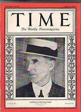1927 Time April 11 - Connie Mack Philadelphia Baseball;Black voters denied Miami