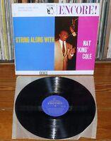 STRING ALONG WITH NAT KING COLE UK LP 1960s Original mono Jazz Vinyl ENC102