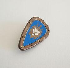 PLAYMOBIL (L610) MOYEN-AGE - Bouclier Dore & Bleu Tête de Lion Chevalier 4430