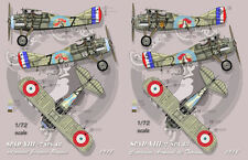 """[FFSMC Productions] Decals 1/72 SPAD XIII SPA 48 """"Chante and Combat"""""""