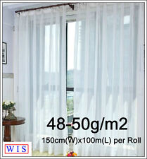 Curtain Material Terylene,50g/m2,150cm Wide,White,Washable,Selling in Meter50201