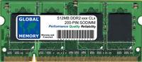 512mb DDR2 400/533/667/800mhz 200 pines SODIMM Memoria RAM para portátiles /
