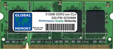 512 MB DDR2 400/533/667/800MHz 200-PIN SoDIMM Memoria RAM PER NOTEBOOK/NETBOOK
