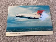 Postcard:- BRITISH AIRWAYS Hawker Siddeley Trident 3 Jetliner