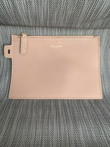 YSL Yves Saint Laurent East Shopping Tote Bag - Mini Pouch in Nude Pink Beige