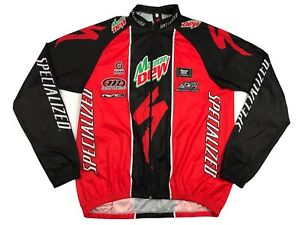 Vtg Specialized Mens Large Red Black Full Zip Cycling Jersey Italy (X5)