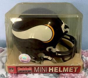 LQQK!  6 Inch Minnesota Vikings Riddell Mini Helmet *Brand New In Unopened Box*
