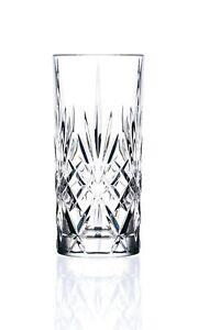 Set of 6x RCR Crystal Melodia Highball Glasses / 350ml Hi Ball Tumblers