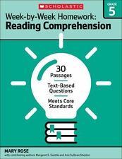 Week by Week Reading Comprehension Homework - 5th Grade - Brand New!!!