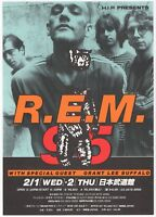 R.E.M. REM Grant Lee Buffalo - Japanese Concert Flyer 1995. Near Mint.