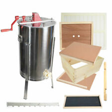 Gle1Stack Single Beehive Brood Box & Two Frame Manual Honey Extractor Kit