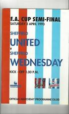 Away Teams S-Z Sheffield Wednesday Football FA Cup Fixture Programmes