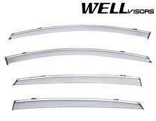 WellVisors For 2016-Up Chevrolet Malibu CHROME Trim Side Window Visors Deflector