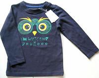 LA Shirt Gr.86 Noppies NEU dunkel blau Eule baby