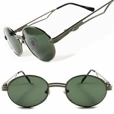 68b800ed8530 Classic 80s Old School Vintage Retro Fashion Mens Womens Oval Round  Sunglasses