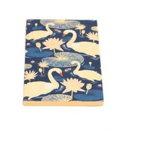 Navy Swan Design Notebook Pad Girls Ladies Stationery Presents Gifts