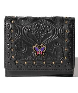 ANNA SUI  Siesta bi-fold BOX wallet Cowhide Leather