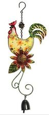 FALL ROOSTER with Bell Hanging by Sunset Vista Designs #13901-Metal & Glass