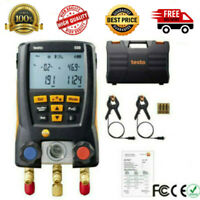 Testo 550 Digital Refrigeration Meter Manifold 0563 1550 + 2pcs Clamp Probes Set