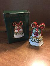 """Fitz and Floyd """"Christmas Bells Hinged Trinket Box"""" NEW in original packaging"""