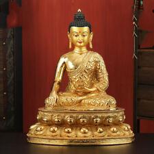 "18"" Tibetan Buddhism bronze copper gilt Shakya Mani Buddha statue"