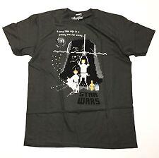 Licensed Star Wars - In A Galaxy Far, Far Away - Men's 2X-Large Grey T-Shirt 2XL