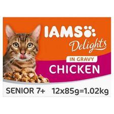 6x Iams Delights Senior Chicken in Gravy 12 x 85g
