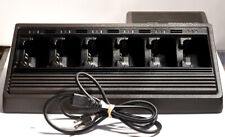 MOTOROLA NTN1177D 6 RADIO CHARGER FOR HT1000 MTS2000  XTS5000 XTS3000 XTS EX!