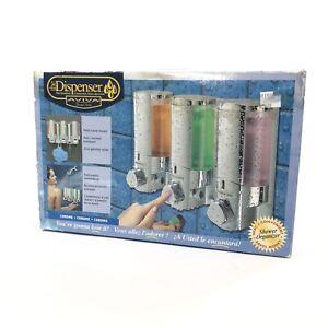 NEW In Box AVIVA 3 Chamber Shower Dispenser Chrome The Dispenser
