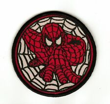 Spiderman Round Web Embroided Cloth Patch - Sew-on Patch