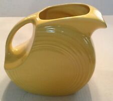 Vintage Fiestaware Large Yellow Disc Pitcher