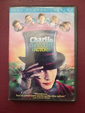 Charlie and the Chocolate Factory Dvd 2005 Johnny Depp, Helena Bonham Carter