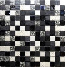 Glasmosaik 4mm GC Safari Black Horse Bad Fliesen Sanitär Glas Mosaik Wellness