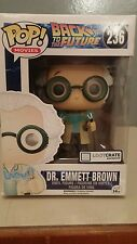 POP Movies Lootcrate exclusive Back To The Future 236 DR. Emmett Brown
