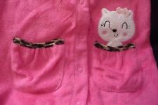 NEW 6/9 Months Baby Pussy Cat Pink & Leopard print trim Sleepsuit 100% Cotton