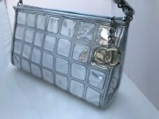 Chanel Bag Vinyl Ice Cube Pochette Shining Silver Metallic Leather iIconic Chane