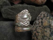 1904 Antique Design Grape Spiral Spoon Ring Size 9 R139 Western Skies Silver