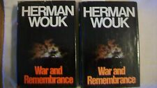 War and Remembrance by Herman Wouk (1978, Hardcover) Book Club Edition
