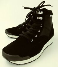 SUVSOLE Mens Shoes Sneakers US 8 Black Textile Suede High Top Vibram New 2248