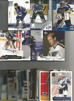 1990- 2006 ST. LOUIS BLUES HOCKEY 200+  CARD LOT