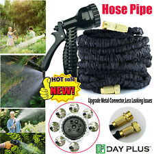 Expandable Garden Water Hose Pipe Solid Brass Fittings/Anti-leakage Strongest