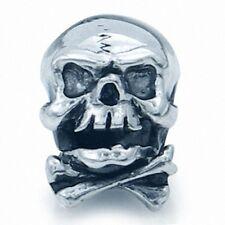 925 Sterling Silver Skull Hat European Charm Bead