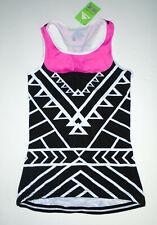 Wulibike Cycling Jersey Shirt Dress Black/Pink Cycle Skirt Top New Nwt Lg