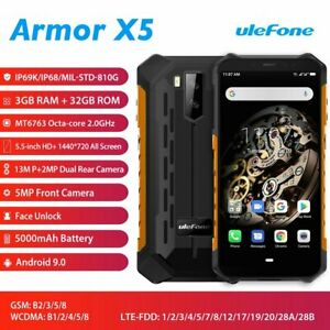 Ulefone Armor X5 IP68 Rugged Waterproof 4G Smartphone Android 9.0 3GB+32GB NFC