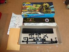 Large Lot of HO Gauge Train Parts, Supplies, 1 Athearn Engine and Car
