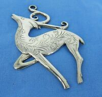 HAND & HAMMER STERLING Silver REINDEER PENDANT OR CHRISTMAS ORNAMENT HAND MADE